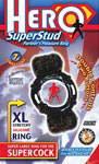 Hero Superstud Partner's Pleasure Ring - Black