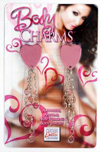 Body Charms Hearts - Pink