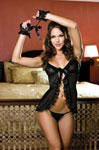 Babydoll and Thong w/Fingerless Gloves