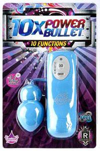10x Power Bullet - 10 Function - Blue