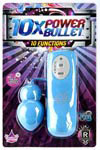 10x Power Bullet - 10 Function - Blue