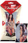 Camouflage Print Lycra Net Cami and Thong