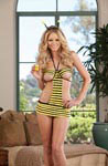 3 pc Honey Bee Apron Babydoll Outfit