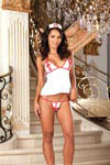 3 pc Open Cup Halter Camisole Set