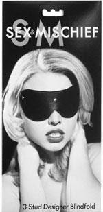 Sex & Mischief- 3 Stud Designer Blindfold