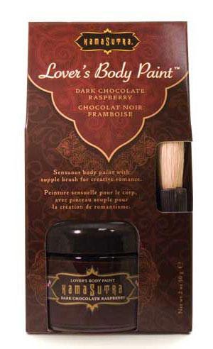 Kama Sutra Lover's Body Paint- Dark Chocolate Raspberry