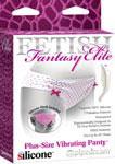 Fetish Fantasy Elite Vibrating Panty Plus Size - Pink/White