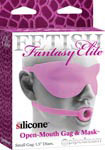 Fetish Fantasy Elite Silicone Open-Mouth Gag & Mask Small - Pink