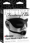Fetish Fantasy Elite Silicone Open-Mouth Gag & Mask Large - Black
