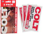 Colt Anal-Eze Ready Wipes 3 Pack
