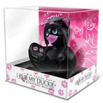 I Rub My Duckie Hoodie Kitty Massager Travel Size - Black