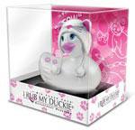 I Rub My Duckie Hoodie Kitty Massager Travel Size - White