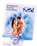 Sex in the Shower Silicone Anal Beads - Blue