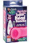 Sue Johanson Glow In The Dark Vibrating Super Head Honcho - Pink