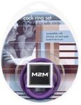 M2M Nitrile Cock Ring Set - Purple