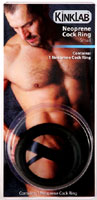 Kinklab Thin Neoprene Cock Ring - 1.5