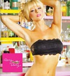 Party Bra Lace Bandeau w/Center Inner Zipped