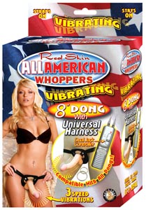 All American Whoppers Universal Harness w/Vibrating 8