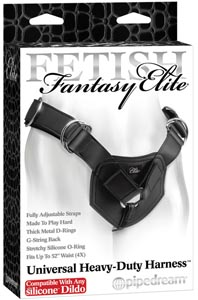 Fetish Fantasy Elite Universal Heavy-Duty Harness - Compatible w/Any Silicone Dildo
