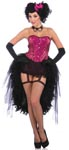 2 Pc Burlesque Show Lady Carmen Corset Top
