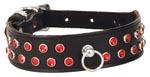 Ruff Doggie Row Red Gems Collar