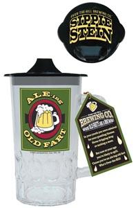 Ale-Ing Old Fart Beer Stein W/Sippie Lid