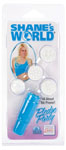 Shane's World Pledge Party Waterproof Massager W/4 Interchangeable Tips - Blue
