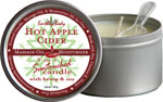Earthly Body 3 In 1 Candle - 6.8 Oz Hot Apple Cider