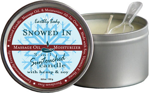 Earthly Body 3 In 1 Candle - 6.8 Oz Snowed In