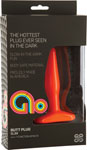 Glo Vibrating Slim Anal Plug - Orange