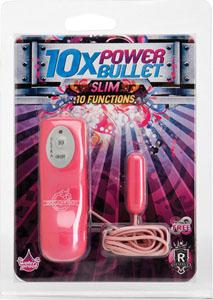 10x Power Bullet - Slim 10 Function - Pink