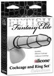Fetish Fantasy Elite Cockcage and Ring Set - Black