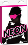 Neon Satin Love Mask - Pink