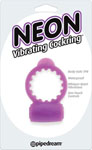 Neon Vibrating Cockring - Purple