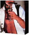 Man in Unbuttoned Tux Drinking Champagne Gift Bag