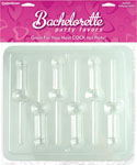 Bachelorette Party Favors Pecker Lollipop Mold - Clear