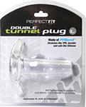 Perfect Fit Large Double Tunnel Plug - Clear