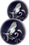 Fashionistas Glass Ben Wa Balls - Black