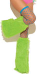 Neon Nites Furry Boot Covers Neon Green O/S