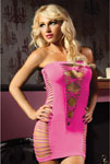 Seamless Tube Dress W/Cut Outs On Sides & Back Pink O/S