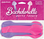 Bachelorette Party Favors Pecker Balloons - Pack Of 6