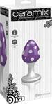 Ceramix Pleasure Pottery Temperature Play Plug No. 1 - White/Purple