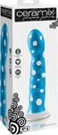 Ceramix Pleasure Pottery Temperature Play Strap On Compatable Dildo No. 4 - White/Blue