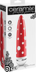 Ceramix Pleasure Pottery Ultra Powerful Vibrator No. 9 - Red/White