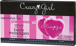 Crazy Girl Wanna Be Pampered Mini Warming Heart Body Massager - Pack Of 2 Pink
