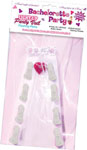 Bachelorette Light Up Flashing Party Veil W/Packaged Condoms