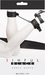 Ns Novelties Sinful Black Ankle Cuffs