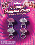 Bachelorette Party Outta Control Jumbo Diamond Ring -  Pack Of 4