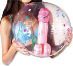 Bachelorette Pecker Beach Ball
