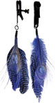 Bijoux De Nip Colored Feather W/Black Alligator Clamp